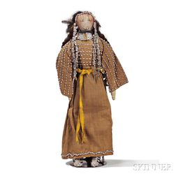 Lakota Beaded Cloth and Hide Doll