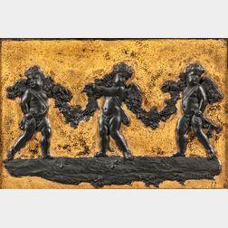 Wedgwood Gilded Black Basalt Plaque