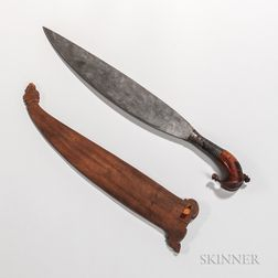 Malay Sword and Wood Scabbard