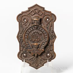 Cast Bronze Odd Fellows Door Peephole Cover