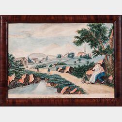 Justus Dalee (New York/Wisconsin, 1793-1878)      L'Oiseau Cheri