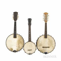 Banjo Ukulele and Two Banjo Mandolins, c. 1920