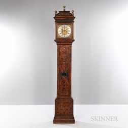 Marquetry-inlaid London Longcase Clock