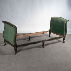 Louis XV-style Painted, Carved, and Upholstered Daybed