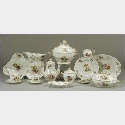 Extensive Assembled German Porcelain Dinner Service