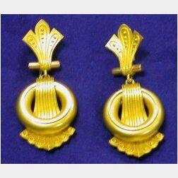 Victorian 14kt Gold Earrings