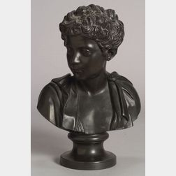 Wedgwood & Bentley Black Basalt Bust of Marcus Aurelius