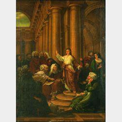 Manner of Erastus Salisbury Field (American, 1805-1900)    Christ Found Among the Doctors