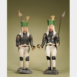 Pair Large German Figures of Prussian Fusiliers