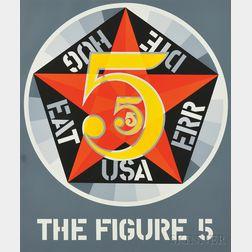Robert Indiana (American, b. 1928)      The Figure Five