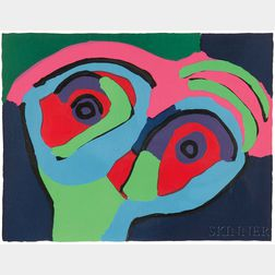 Karel Appel (Dutch, 1921-2006)      Untitled (Face)