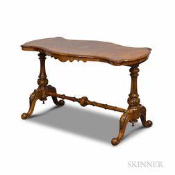 William IV Walnut Veneer Sofa Table
