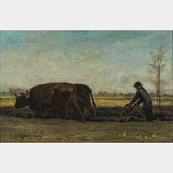 John Bernard Johnston (American, 1847-1886)      Plowing