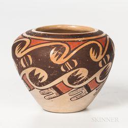 Contemporary Hopi Polychrome Seed Jar