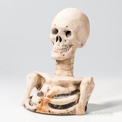 Papier-mache Odd Fellows Skeleton Bust