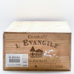 Chateau LEvangile 2000, 12 bottles (owc)