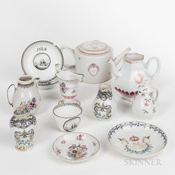 Approximately Eleven Pieces of Chinese Export Porcelain