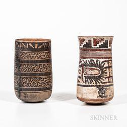 Two Pre-Columbian Polychrome Jars