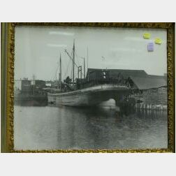 Framed Photograph of Fairfield Dock, Salem.