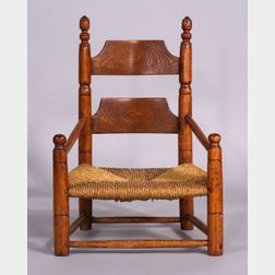 Child's Maple and Ash Slat-back Armchair