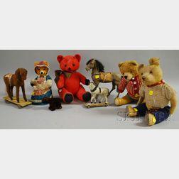 Eight Toy Stuffed Animals