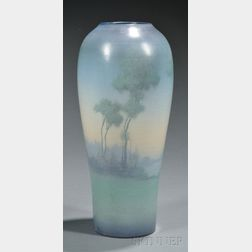 Rookwood Pottery Scenic Vellum Decorated Earthenware Vase