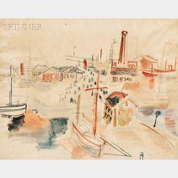 Jean Dufy (French, 1888-1964)      Port du Havre