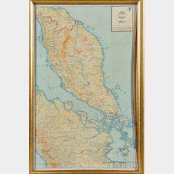 Map of Siam, Malaya, and Sumatra