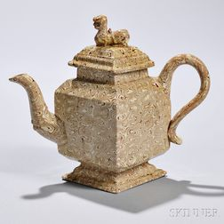 Agate Diamond-shaped Teapot and Cover