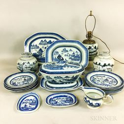 Eighteen Pieces of Canton Porcelain Tableware.     Estimate $250-350