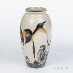 Moorcroft Emperor Penguin Vase