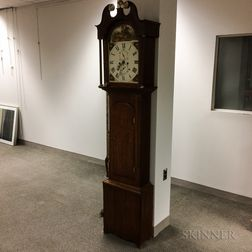 British Oak Tall Case Clock