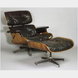 Rosewood Lounge Chair and Ottoman