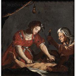 School of Alessandro Turchi (Italian, 1578-1649)      Judith Beheading Holofernes