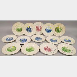 Fourteen Wedgwood Wellesley College Ceramic Plates.