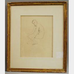 William McGregor Paxton (American, 1869-1941)      Seated Nude.