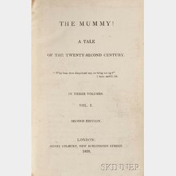 Loudon, Jane (1807-1858) The Mummy! a Tale of the Twenty-second Century.