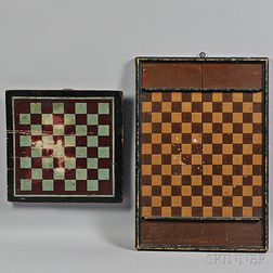 Two Paint-decorated Game Boards