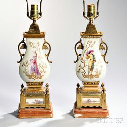 Pair of Aesthetic Movement Porcelain Vases