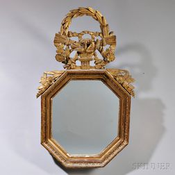 Louis XVI Giltwood Shaped Hexagonal Mirror