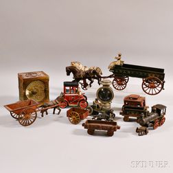 Group of Mostly Cast Iron Toys