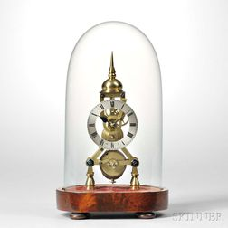 Miniature Fusee Skeleton Timepiece by Bates