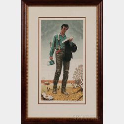 Norman Rockwell (American, 1894-1978)      Young Lincoln