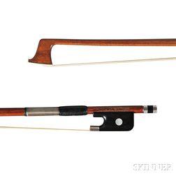 Silver-mounted Viola Bow, Workshop of J.S. Finkel