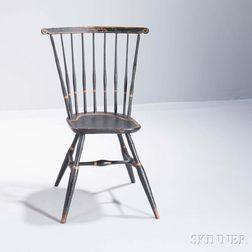 Diminutive Paint-decorated Fan-back Windsor Side Chair