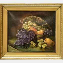 Attributed to Mary Jane Peale (American, 1827-1902)       Still Life with Fruit