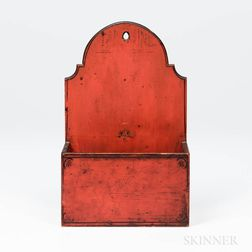 Red-painted Wall Box