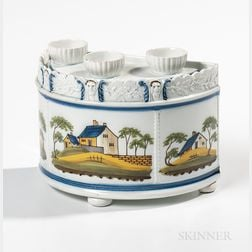 Polychrome Decorated Pearlware Bough Pot