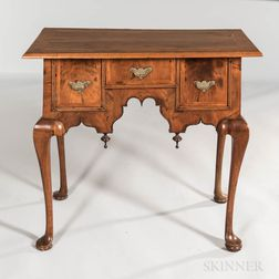 Queen Anne Walnut and Walnut Veneer Dressing Table