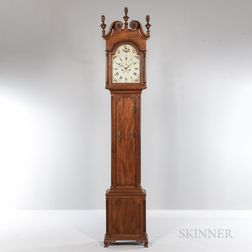 Philadelphia Mahogany Tall Clock Attributed to John Scott